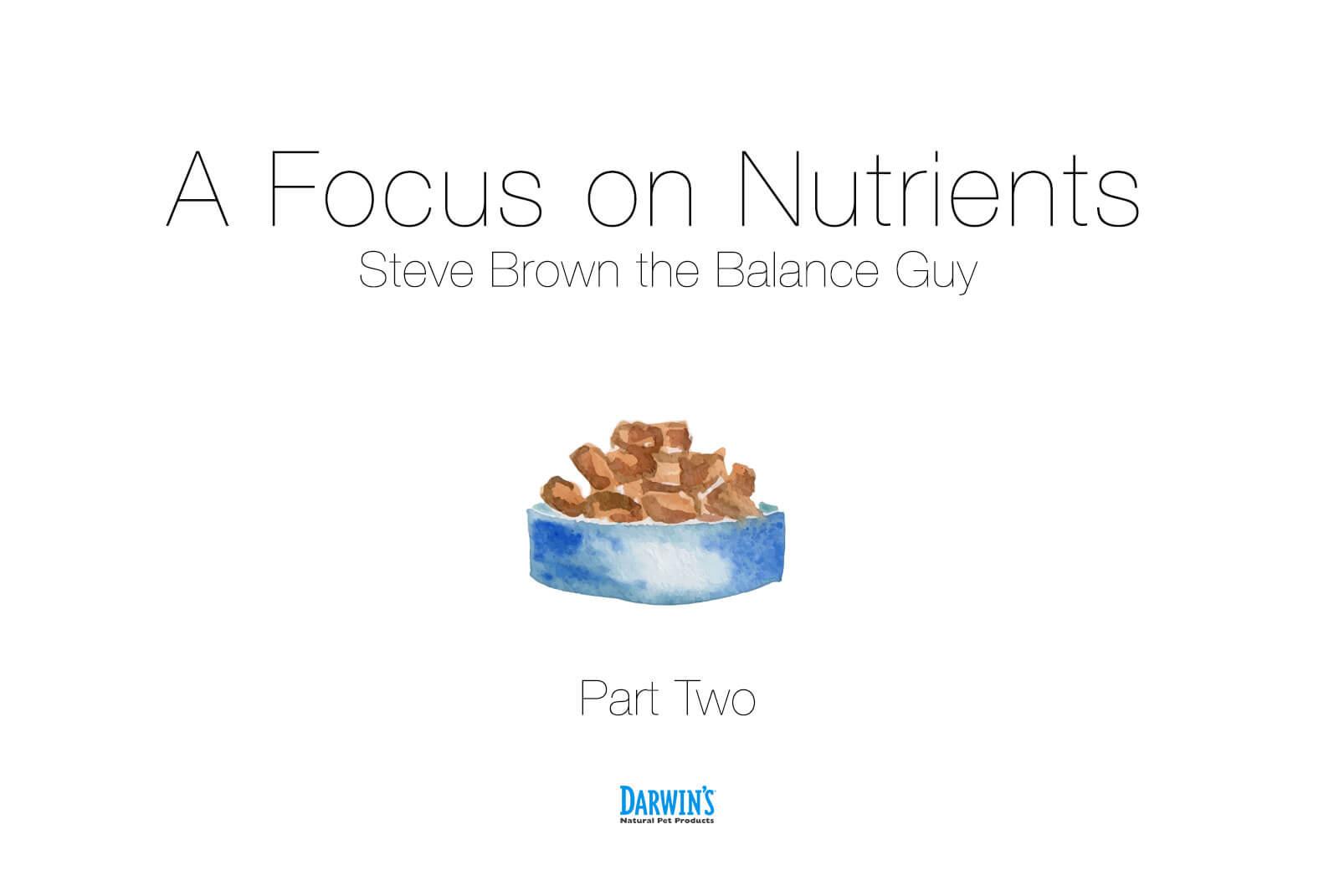 Focus On Nutrients: Part 2