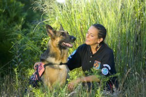 Shephard and trainer food for Service Dog Darwin's Pet